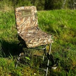 Banded foldbar stol med drejbart sæde