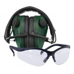 Caldwell E-max elektroniske høreværn incl. brille