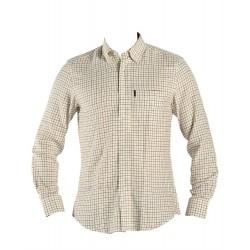 Haunter Eild skjorte Beige/grøn/brun