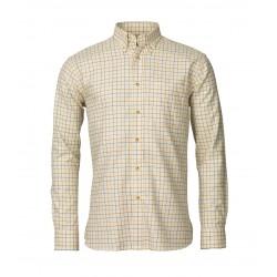 Jim skjorte børstet bomuld DENIM/SAND/REDDISH