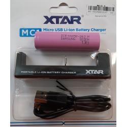 Pard Oplader pakke inkl. 1 batteri 18650
